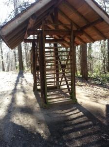 Sprossenwand Waldsportpfad März 2014